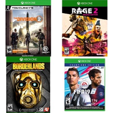 32 Pcs – Microsoft Video Games – New, Used – Tom Clancy's The Division 2 – Xbox One Standard Edition, Borderlands: The Handsome Collection (Xbox One), FIFA 19: Champions Edition (XB1), Rage 2 Deluxe Edition (Xbox One)