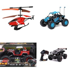 Pallet – 41 Pcs – Vehicles, Trains & RC, Boardgames, Puzzles & Building Blocks – Customer Returns – New Bright, Sky Rover, Adventure Force, Owleez