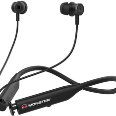 11 Pcs – Monster MNFLEX BLK Flex Active Noise Canceling Bluetooth Headphones – New – Retail Ready