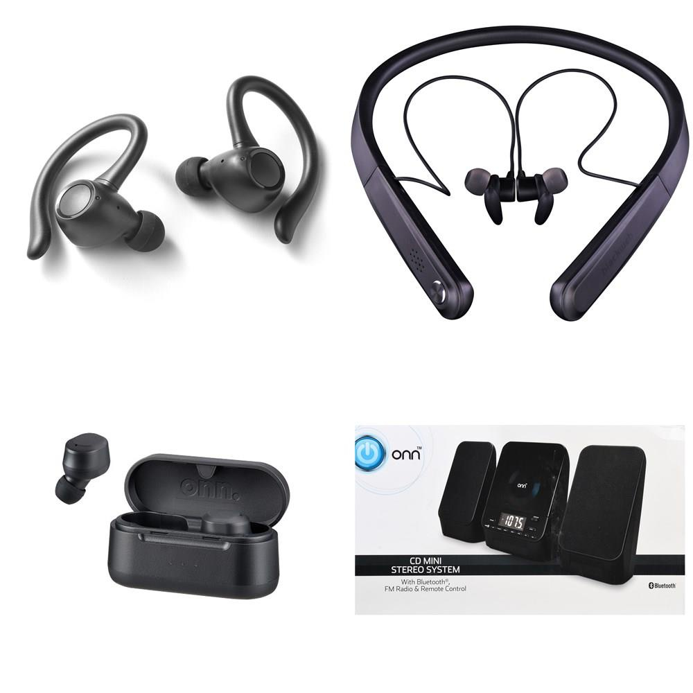 Walmart Pallet 61 Pcs Headphones Portable Speakers Electronics Accessories Customer Returns Blackweb Onn Skullcandy Hp