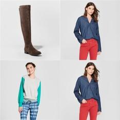 250 Pcs - T-Shirts, Polos, Sweaters & Cardigans - New - Retail Ready - Universal Thread, Mad Love, A New Day, JoyLab