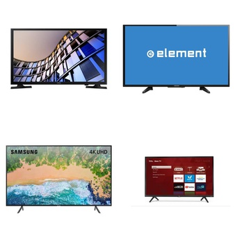 6 Pcs – LED/LCD TVs (28″ – 40″) – Refurbished (GRADE A, GRADE B) – Samsung, ELEMENT, TCL