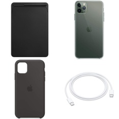 250 Pcs – Apple Accessories – Customer Returns – Models: MPU62ZM/A, MUF72AM/A, Silicone Case (for iPhone 11) – Black, MX0H2ZM/A