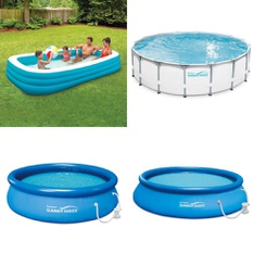 3 Pallets - 58 Pcs - Pools & Water Fun, Not Powered, Outdoor Sports - Customer Returns - Play Day, PolyGroup, SwimSchool, Summer Waves