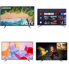 5 Pcs – LED/LCD TVs – Refurbished (GRADE A) – Samsung, HISENSE, SHARP, RCA
