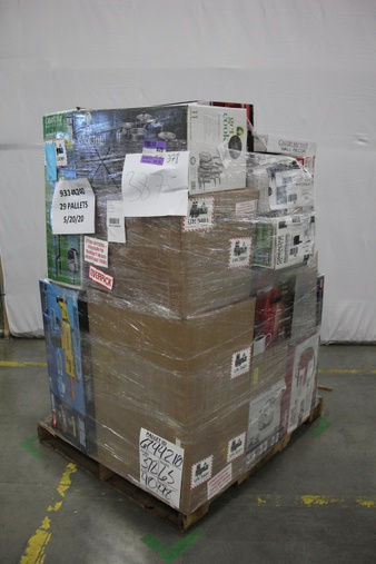 3 Pallets – 188 Pcs – Vehicles, Trains & RC, Kitchen & Dining, Camping & Hiking, Power Tools – Customer Returns – New Bright, Mainstay's, Hyper Tough, Ozark Trail