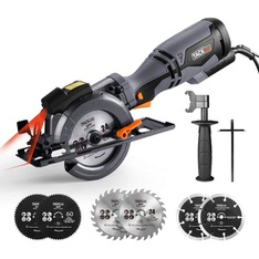 Pallet - 47 Pcs - TACKLIFE TCS115A Circular Saw with Metal Handle, 6 Blades - Brand New - Retail Ready