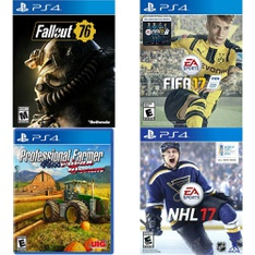 150 Pcs – Sony Video Games – Used, New, Like New, Open Box Like New – Fallout 76(PS4), ADIB075CQN8F5, FIFA 17- PS4, NHL 17(PS4)