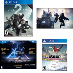 35 Pcs – Sony Video Games – Like New, New, Used – Destiny 2 Standard Edition (PS4), Star Wars Battlefront II (PS4), Destiny: The Taken King Legendary Edition (PS4), Dishonored 2 PlayStation 4