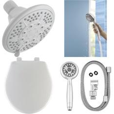 Pallet – 279 Pcs – Hardware, Kitchen & Bath Fixtures, Smoke Alarms & CO Detectors – Customer Returns – Peerless, Brinks, Kidde, Brink's