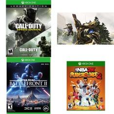 100 Pcs - Microsoft Video Games - Used, New, Like New - Call Of Duty Infinite Warfare - Legacy Edition (Xb, Star Wars Battlefront II (XB1), Titanfall 2 (Xbox One), NBA 2K Playgrounds 2 (Xbox One)