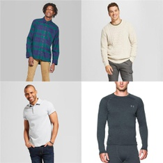 56 Pcs - Men`s T-Shirts, Polos, Sweaters - New - Retail Ready - Goodfellow & Co, Original Use, G-III Sports, Under Armour