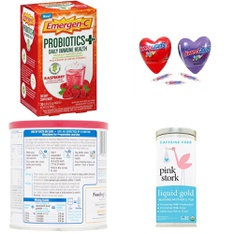 83 Pcs - Food & Grocery - Open Box Like New, New, Like New, New Damaged Box - Retail Ready - Emergen-C, Similac, Card Exchange, Pink Stork