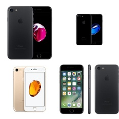 17 Pcs - Apple iPhone 7 - Refurbished (GRADE A - Unlocked) - Models: MN8G2LL/A, MN8N2LL/A, MN8Q2LL/A, MN9H2LL/A