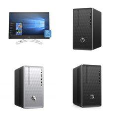 5 Pcs – Desktops, All In One Computers – Refurbished (GRADE A, GRADE C – No Power Adapter) – HP