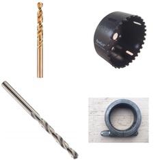 64 Pcs - Power Tools - Refurbished (GRADE A, GRADE B) - Cleveland, DORMER, DEWALT, Burndy