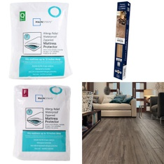 3 Pallets - 81 Pcs - Covers, Mattress Pads & Toppers, Comforters & Duvets, Hardware, Bedding Sets - Customer Returns - Mainstay's, Select Surfaces, Lasko, Aller-Ease