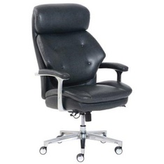 15 Pcs – La-Z-Boy 50641EC-B Luxury Big & Tall Executive Chair, Magic Lumbar, Navy – New – Retail Ready
