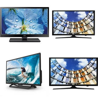 Clearance! 10 Pcs – LED/LCD TVs (19″ – 43″) – Refurbished (GRADE A – No Accessories) – RCA, Samsung, ELEMENT, SYLVANIA