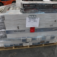 12 Pallets - 8418 Pcs - Hardware, Accessories, Tool Accessories, Power Tools - Brand New - Retail Ready - Prime-Line, Gatehouse, M-D Building Products, Schlage