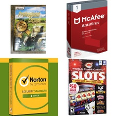 10 Pcs - Computer Software - New, Like New, Used - Avanquest, Symantec, McAfee, Masque Publishing