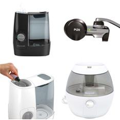 Clearance! Pallet – 111 Pcs – Humidifiers / De-Humidifiers, Hardware, Kitchen & Dining, Smoke Alarms & CO Detectors – Customer Returns – Honeywell, PUR, Kidde, Kaz