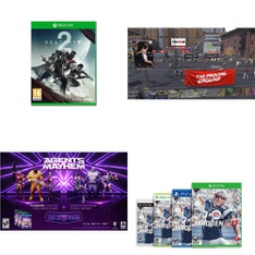 25 Pcs – Microsoft Video Games – Like New, New – Destiny 2 (Xbox One), Agents of Mayhem (XB1), Anthem Shooter Video Game (XB1), South Park: The Fractured but Whole – (XB1)