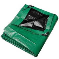 50 Pcs – Comfitwear FBA_MTGB-3050 30′ x 50′ Heavy Duty Green/Black Reversible 10 Mil Poly Tarp – New – Retail Ready