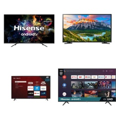 5 Pcs – LED/LCD TVs – Refurbished (GRADE A) – HISENSE, TCL, Samsung