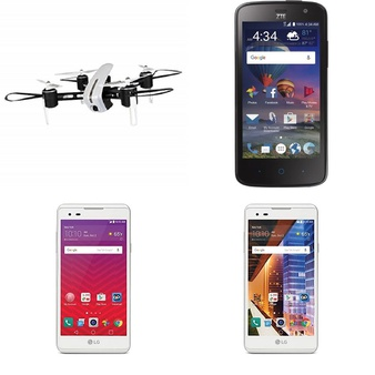 CLEARANCE! 290 Pcs – Other, LG, Drones & Quadcopters Vehicles, Prepaid – Refurbished (BRAND NEW, GRADE A, GRADE B) – LG, ZTE, ALCATEL, Protocol