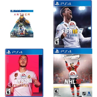 146 Pcs – Sony Video Games – Like New, New, Used – Anthem (PS4), FIFA 18 Standard Edition (PlayStation 4), FIFA 20 Standard Edition (PS4), NHL 16 (PS4)