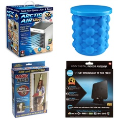 3 Pallets - 279 Pcs - Humidifiers / De-Humidifiers, Hardware, Kitchen & Dining, Accessories - Customer Returns - As Seen On TV, ClearTV, Coleman, Play Day