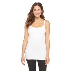 100 Pcs - Gilligan & O'Malley Women's Nursing Cotton Cami, XL, White - 93% Cotton - New - Retail Ready