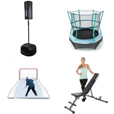 Pallet – 14 Pcs – Outdoor Sports, Exercise & Fitness – Customer Returns – Future Stars, GoZone, Sunny Health & Fitness, Fitness Reality