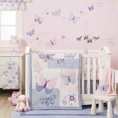 56 Pcs - Bedtime Originals 254003V Butterfly Meadow Bedding Set, 3 Piece - New - Retail Ready
