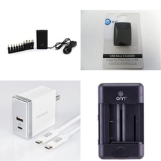 594 Pcs - Accessories -> Chargers, Cameras -> Accessories, Printers, Scanners & Faxes -> Ink, Toner, Accessories & Supplies, Accessories -> Apple iPad - Customer Returns - Onn, Blackweb, Polaroid, Canon