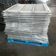 12 Pallets - 419pcs - Racking - Wire Racking Mixed Sizes - Used Fixed Assets