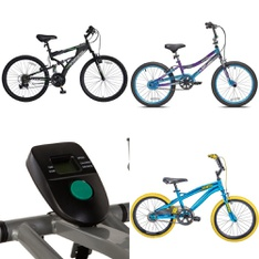 Pallet - 9 Pcs - Cycling & Bicycles, Exercise & Fitness - Customer Returns - Huffy, Exerpeutic, MGA Entertainment, CAP Barbell