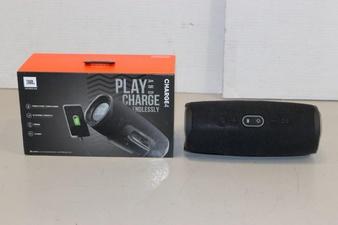 30 Pcs – JBL JBLCHARGE4BLKAM Charge 4 Portable Waterproof Wireless Bluetooth Speaker – Black – (GRADE A)