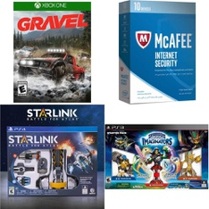 213 Pcs - Video Games & Gaming Software - New Damaged Box, Open Box Like New, New, Like New, Used - Square Enix, McAfee, Ubisoft, NINTENDO