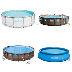 Pallet - 6 Pcs - Pools & Water Fun - Customer Returns - Summer Waves Elite®, Coleman