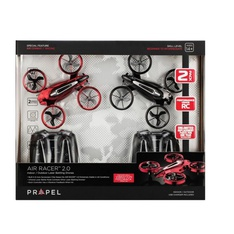 25 Pcs – Propel 980212123 Air Racer 2.0 Indoor/Outdoor Laser Battling Drones- 2 Pack, Red & Black – New – Retail Ready