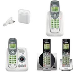 3 Pallets – 1509 Pcs – Accessories, In Ear Headphones, Cordless / Corded Phones, Over Ear Headphones – Customer Returns – Onn, VTECH, Blackweb, GE