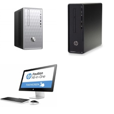 5 Pcs – Desktop & All-In-One Computers – Salvage – HP