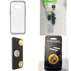 250 Pcs - Cellular Phones Accessories - New - PopSockets, CASE-MATE, OtterBox, Belkin