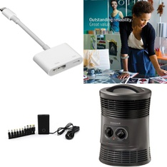 12 Pallets - 2121 Pcs - Accessories, Ink, Toner, Accessories & Supplies, Heaters, In Ear Headphones - Customer Returns - Apple, HP, Blackweb, Onn