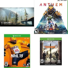 46 Pcs -Microsoft Video Games – New – Destiny 2 (Xbox One), Tom Clancys The Division 2 (xbox One), NHL 19 (Xbox One) Disc, Anthem (XB1)