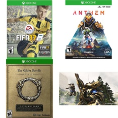 32 Pcs – Microsoft Video Games – Like New, Used, Open Box Like New, New – FIFA 17 (XB1), The Elder Scrolls, Anthem Shooter Video Game (XB1), Titanfall 2 (Xbox One)