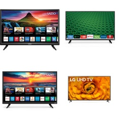 36 Pcs - LED/LCD TVs - Refurbished (GRADE A, GRADE B) - VIZIO, LG, ELEMENT, SCEPTRE