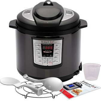 Pallet – 35 Pcs – Instant Pot LUX60 Black Stainless Steel 6 Qt 6-in-1 Multi-Use Programmable Pressure Cooker – Like New – Retail Ready